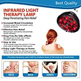 Red Light Therapy Lamp, Wolezek 18 LEDs Infrared