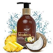 WOW Fabulous Foaming Body Wash 300ml No Parabens No Sulp