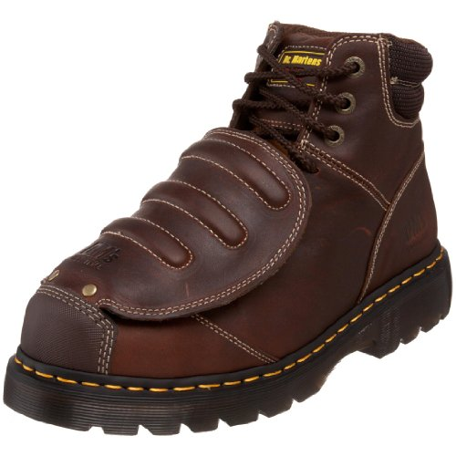 Dr. Martens Men's Ironbridge MG ST Steel-Toe Met Guard Boot,Teak,9 UK/10 M US