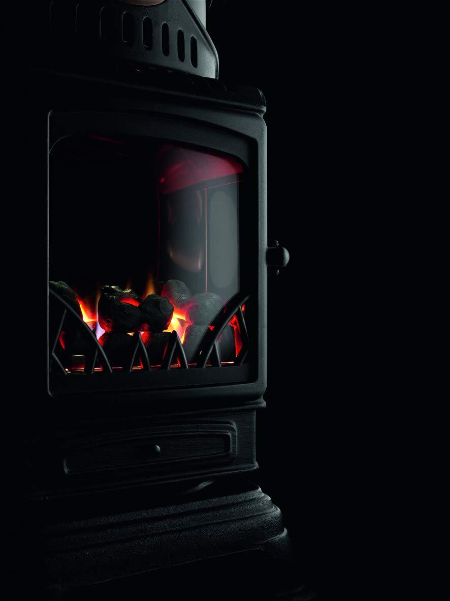 Chauffage dappoint gaz effet po/êle /à bois 3kW Provence avec tuyau et d/étendeur butane