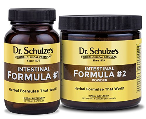 Dr. Schulze's Intestinal Formula #1 90 Count and Intestinal Formula #2 Powder by Dr. Schulze's