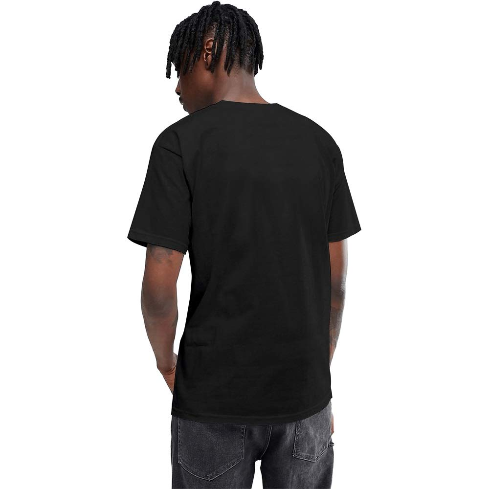 Mens Tee #50 Aaron-Judge-New-York-99-black Hemline Pattern Print T-Shirt Crew Neck Black Short Sleeve Tops