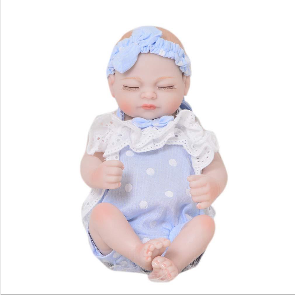 KEIUMI Neonato Bambino Ragazza Bambola -Realistico Reborn Simulazione Vero Toccare Silicone Vinile Giocattolo