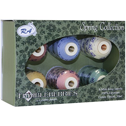 (Robison-Anton Thimbleberries 6-Pack Cotton Thread Collection, Warm and Cozy)