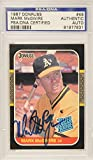 Mark McGwire Oakland Athletics Autographed 1987 Donruss Card - PSA/DNA Certified - Baseball Slabbed Autographed Cards