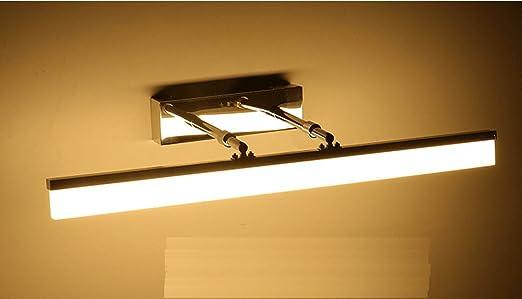 sjmm – Mueble de baño LED lámpara espejo espejo telescópico ...