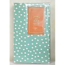 FOME 84 Pockets Lovable Mini Album Fuji Instax Mini Polaroid Photo Album For Instax Mini7s 8 25 50s 90 Film Blue Green Daisy + A FOME Gift