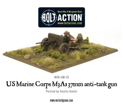 37 Mm Anti Tank - 37mm Usmc M3a1 Anti-tank Gun Miniature