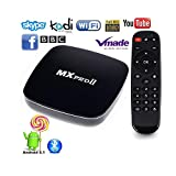 MXPRO II Android TV Box Android 5.1 Lollipop 4K 2K Supports H.265 1080P HD Media Player 3D Set Top Box Amlogic S905 1G/8G Wifi Bluetooth
