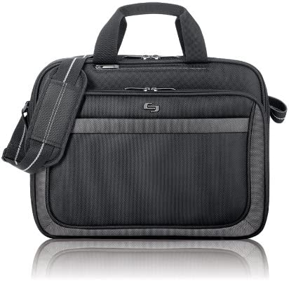 Solo Pro 15.6 Inch Laptop Slim Brief, Black