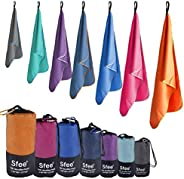 Sfee Microfiber Sport Travel Towel Set -(S M L XL)-Quick Dry Absorbent Compact Lightweight Soft Beach Yoga Bat
