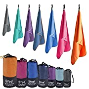 Sfee 2 Pack Microfiber Travel Towel, Quick Dry Towel Camping Towels, Super Absorbent Compact Lightweight Sport Towel…