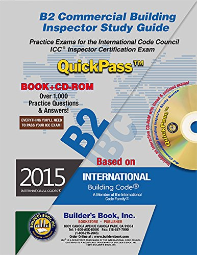 B2 Commercial Building Inspector QuickPass Study Guide Based on 2015 ...