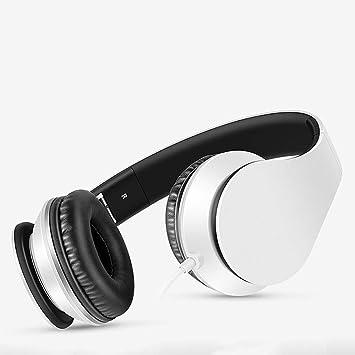 XAJGW Auriculares Bluetooth, Auriculares estéreo inalámbricos Plegables Bluetooth Sobre Oreja con micrófono y Control de Volumen, Auriculares inalámbricos y ...