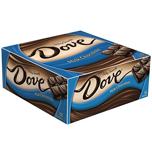 Dove Milk Chocolate Singles Size Candy Bar 1.44-Ounce Bar 18-Count Box (Milk Candy Chocolate)
