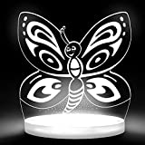 Total Dreamz Smiling Butterfly Multicolored LED Night Light