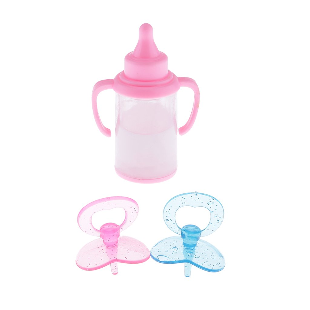 Baoblaze Mini Baby Pacifier Feeding-Bottle Kids Pretend Play Toys for Barbie Dolls