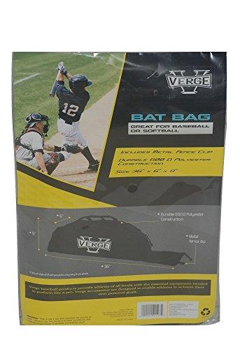 Verge Baseball and Softball Bat bag with Metal Fence - Black Bag Diamond Gorilla Chalk
