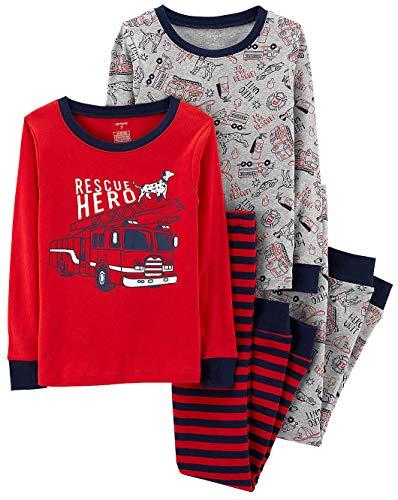 Carter's Boys' Snug Fit Cotton Pajamas (Red/Rescue Hero, 5)