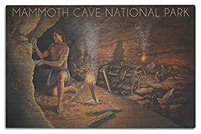 Mammoth Cave, Kentucky - Original Cave Painting (Wood Wall Sign, Wall Decor Ready to Hang)