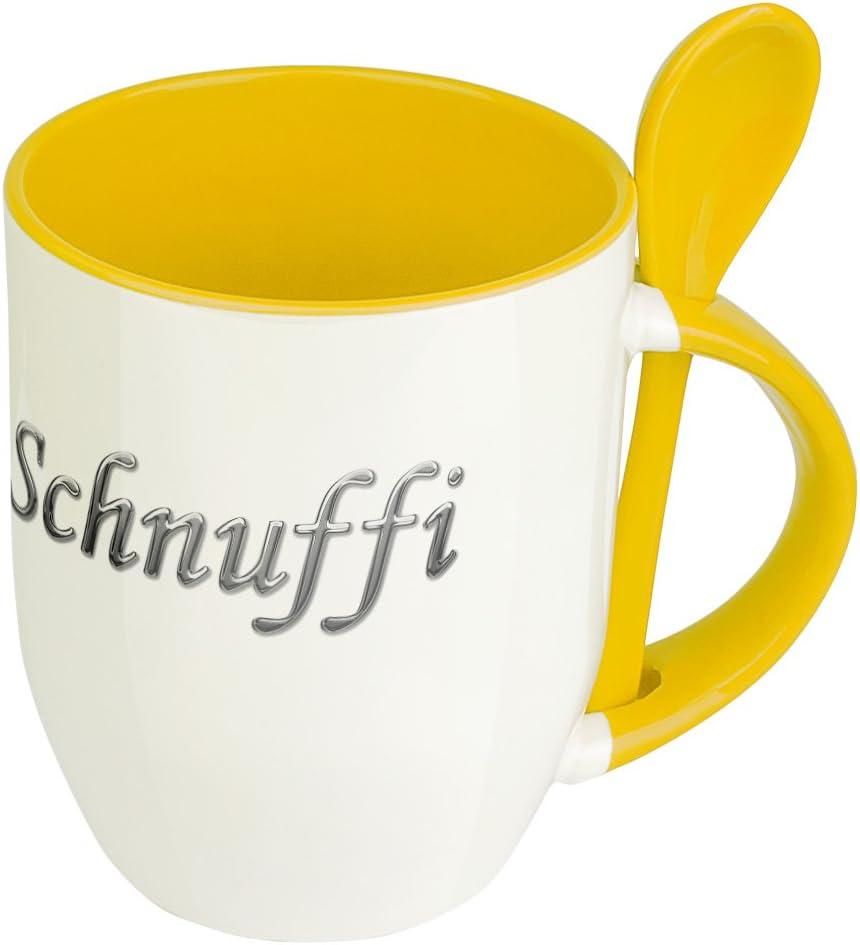 Chrom-Schriftzug Tasse mit Namen Schnuffi