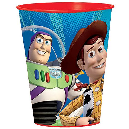 Amscan Toy Story Power Up Birthday Party Favour Cups, Red/Blue, 16 Ounces, (Toy Story Party Cups)