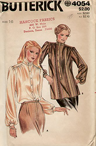 Shirred Dress Pattern (Butterick 4054 Vintage 1980s Shirred Tunic Blouse Sewing Pattern Check Offers for Size)