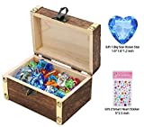 IVLWE Children Pirate Gems Toys with Antique Wood