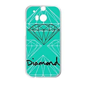 Canting_Good Diamond Custom Case Shell Cover for HTC One M8 (Laser Technology)