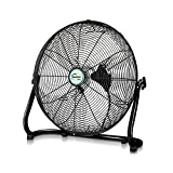 Floor Fan, Consumer And Commercial, Desktop Smashing Fan, Electric Fan, Sitting Climbing Fan, Large Angle Wide Fan Blade, High Power Industrial Fan, Self-buckling Net Multiple Size Selection Black