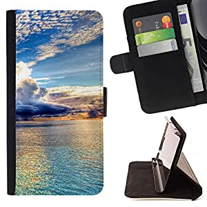 Jordan Colourful Shop - Beautiful Clouds & Water For Apple Iphone 4 / 4S - Leather Case Absorci???¡¯???€????€?????????