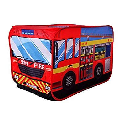 POCO DIVO Fire Engine Truck Pop-up Play Tent Kids Pretend Vehicle: Toys & Games
