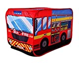 Fire Engine Truck Pop-up Play Tent Kids Pretend Vehicle by POCO DIVO