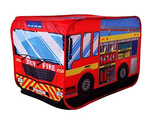 POCO DIVO Fire Engine Truck Pop-up Play Tent Kids Pretend Vehicle by POCO DIVO