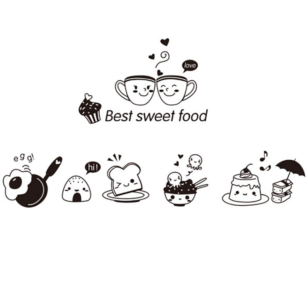 🎁 Stickers Home Decor 🎁Kitchen Wall Stickers Coffee Sweet Food DIY Wall Art Decal Decoration Oven by Little Story