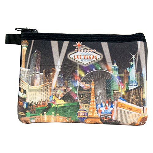 LAS VEGAS COIN PURSE (BLACK WITH SPOTLIGHTS)