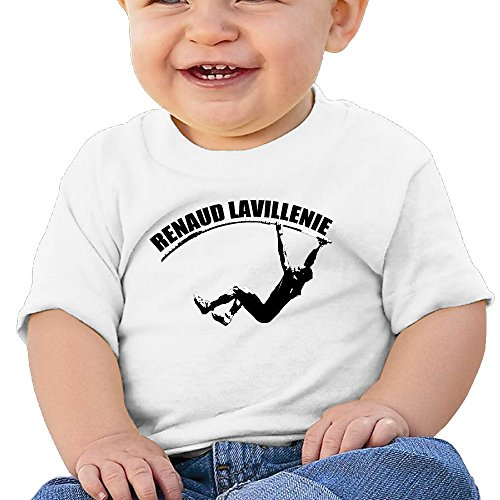 Price comparison product image Boss-Seller Renaud Lavillenie Short Sleeve T-srhits For 6-24 Months Toddler Size 18 Months White