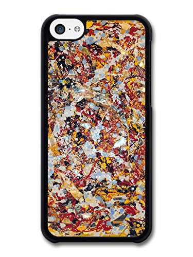 Paint Splatter Design with Red and White Paint Style case for iPhone 5C