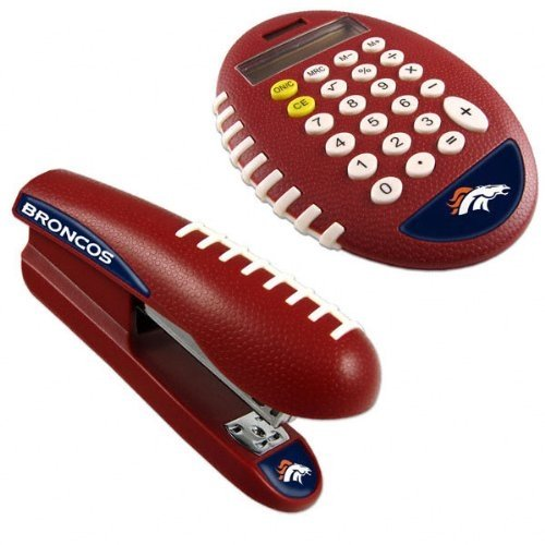NFL Denver Broncos Stapler/Calculator Set