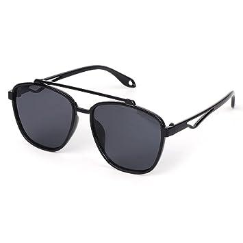 JAGENIE Gafas de Sol de Doble Puente para Mujer, con Montura ...