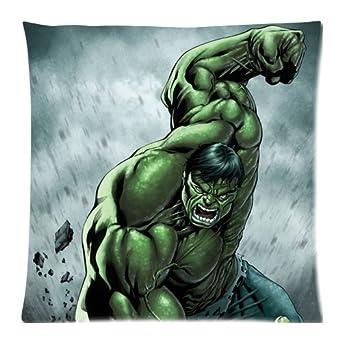 Amazon.com: Increíble Hulk skcase fundas de almohada 18 x 18 ...