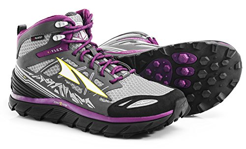 Altra Lone Peak 3.0 Mid Neoshell Trail Running Shoe - Women's Gray/Purple, 10.0