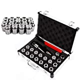 Collet Set MT2 ER32 M10 1-20mm Collet Chuck - 19 Pcs/Set in Fitted Strong Aluminium Box