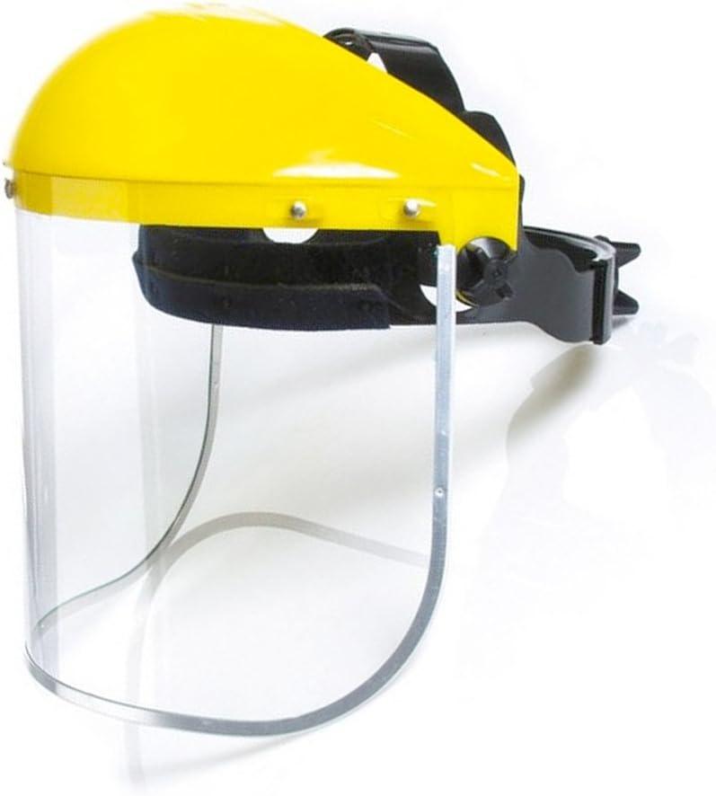 Pantalla Protección Facial Incolora - Protector frontal y visor con arnés de cabeza - Color: Amarillo/Negro