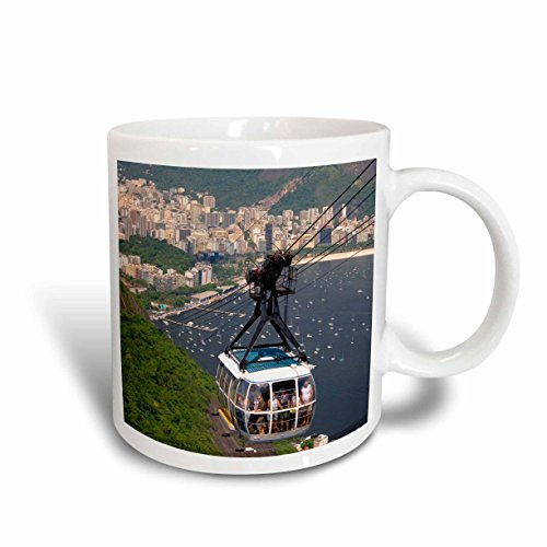 3dRose Rio De Janeiro, Cable Car, Sugarloaf Peak Brazil Sa04 Dfr0075 David R. Frazier Ceramic Mug, 11 oz, - Outlet Sugarloaf