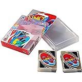 Hawaeye UNO Kids ,Neu UNO 108 Pcs H2O Wasserdichte PVC Transparente Crystal Clear Familie Spielkarte