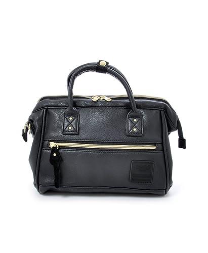 af75ff7468bd Anello Mini 2 Way Shoulder Handle PU Leather Boston Bag (Black ...