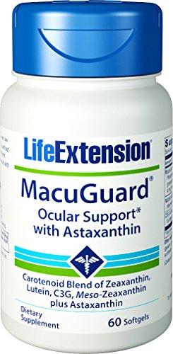 Life Extension Macuguard Ocular Support Plus Astaxanthin, 60 softgels