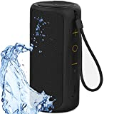 Aneerx Portable Bluetooth Speakers IPX7 Waterproof Dustproof Dual Drivers & Rich Enhanced Deep Bass, Built in Mic for Hands free Calling, Surround Outdoor Loud Wireless Speaker, 360 Sound Home, Shower