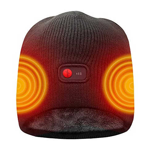 Men Women Heated Electric Hats Thermal Beanie for Rechargeable Li-ion Batteries - Electric Beanie